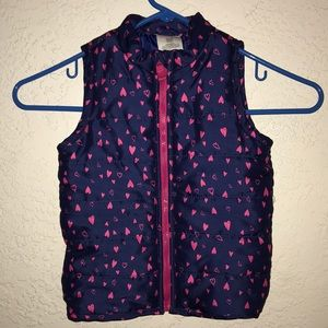 Little girl's sleeveless winter jacket vest